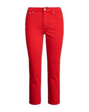 Джинсовые брюки-капри LAUREN RALPH. Цвет: красный