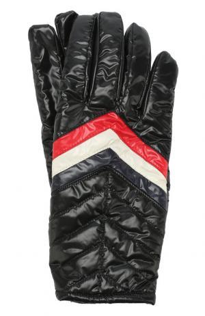 Утепленные перчатки Moncler. Цвет: черный