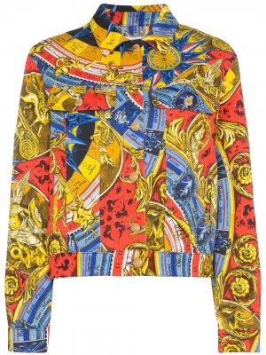 Джинсовая куртка Roman с принтом Moschino. Цвет: 1888 multicoloured