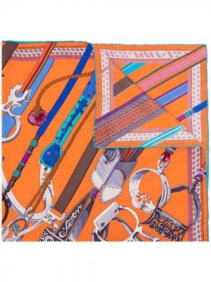 Платок Concours dEtriers Imprimeur 1990-х годов Hermès. Цвет: разноцветный