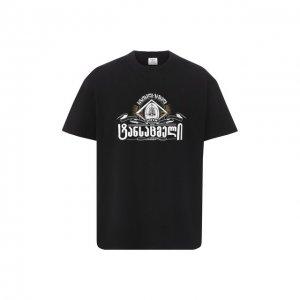 Хлопковая футболка Vetements. Цвет: чёрный
