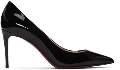 Black Patent Kate 85 Heels Christian Louboutin. Цвет: bk01 black