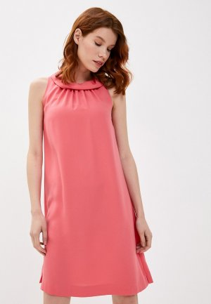 Платье Colletto Bianco. Цвет: коралловый