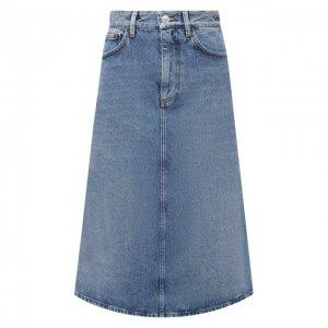 Джинсовая юбка Balenciaga. Цвет: синий