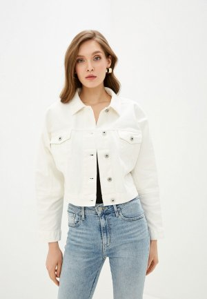 Куртка джинсовая Love Republic. Цвет: белый