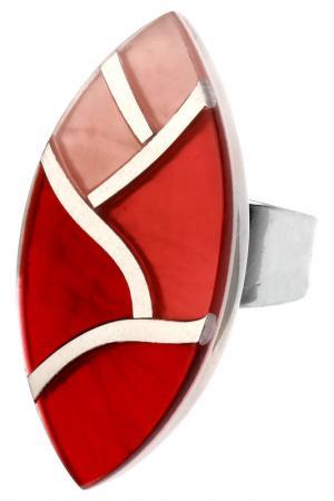 Кольцо Culture Mix. Цвет: красный, оранжевый, розовый