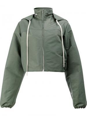 Куртка-ветровка с капюшоном Rick Owens. Цвет: зеленый