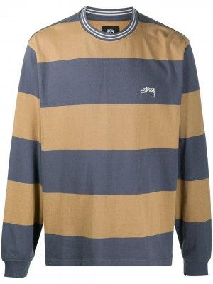 Striped crewneck sweatshirt Stussy. Цвет: нейтральные цвета