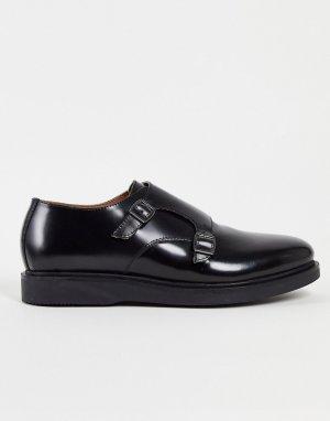 Черные замшевые монки Calverson-Черный цвет H by Hudson