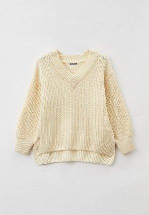 Пуловер Gulliver. Цвет: бежевый