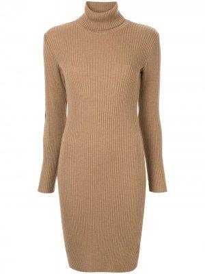 Платье с длинными рукавами Fendi Pre-Owned. Цвет: коричневый