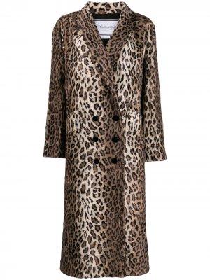 Двубортное пальто с леопардовым принтом Redemption