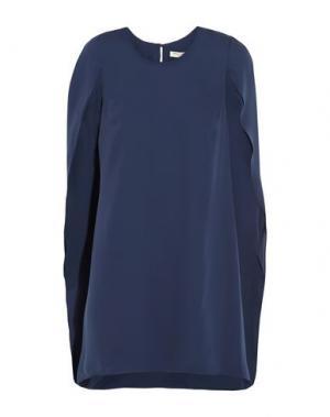 Короткое платье HALSTON. Цвет: синий