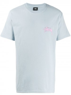 Logo print T-shirt Stussy. Цвет: синий
