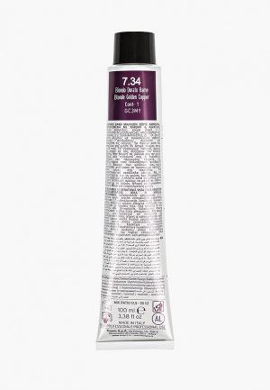 Краска для волос KayPro 7.34 CAVIAR SUPREME СРЕДНИЙ ЗОЛОТИСТО-МЕДНЫЙ БЛОНДИН, 100 мл. Цвет: прозрачный