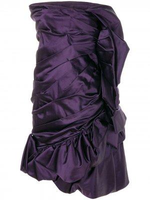 Драпированное платье без рукавов Christian Lacroix Pre-Owned. Цвет: фиолетовый