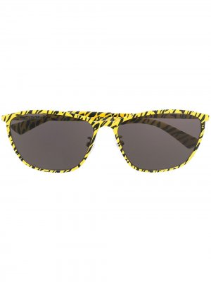 Printed oval-frame sunglasses Balenciaga Eyewear. Цвет: желтый