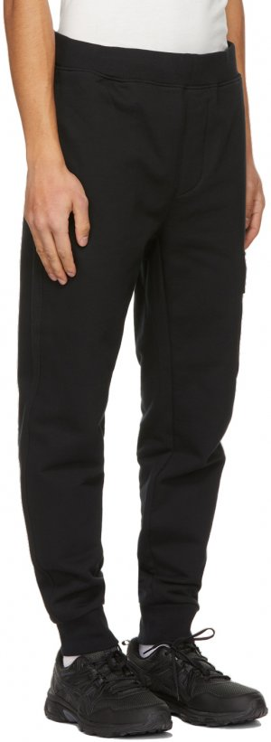 Black Diagonal Raised Lounge Pants C.P. Company. Цвет: 999 black