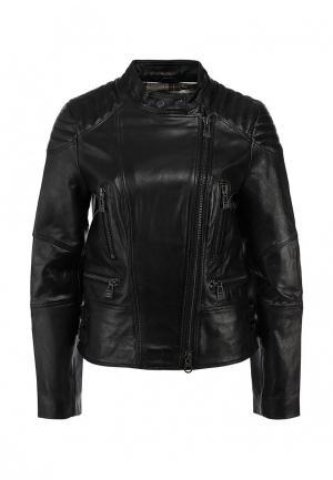 Куртка кожаная Colorado Jeans. Цвет: черный