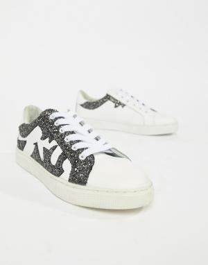 Кроссовки с блестками Sofie Schnoor. Цвет: белый