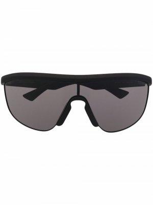 Soft shield sunglasses Bottega Veneta Eyewear. Цвет: черный
