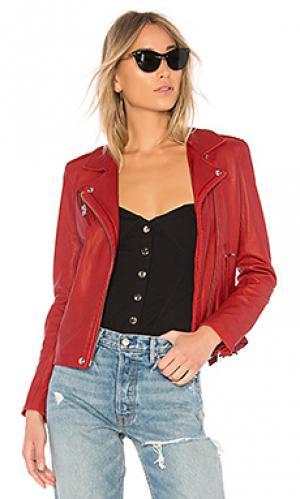 Кожаная куртка han IRO. Цвет: красный