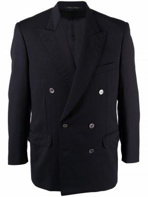 Двубортный пиджак 1990-х годов Pierre Cardin Pre-Owned. Цвет: синий