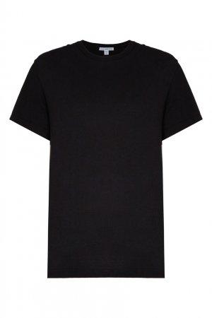 Черная футболка с круглым вырезом James Perse. Цвет: черный