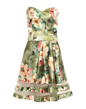 Короткое платье CARLO PIGNATELLI CERIMONIA. Цвет: зеленый-милитари