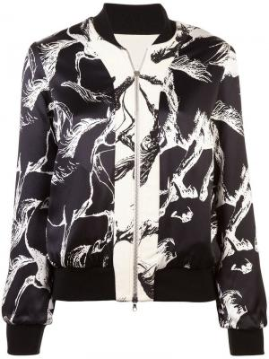Куртка-бомбер с застежкой на молнии Adam Lippes. Цвет: белый