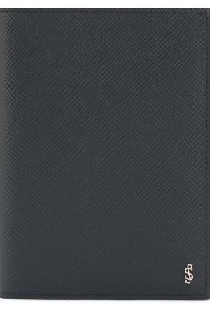 Кожаная обложка для паспорта Evoluzione Serapian. Цвет: темно-синий