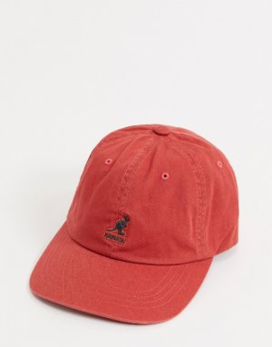 Красная выбеленная бейсболка -Красный Kangol