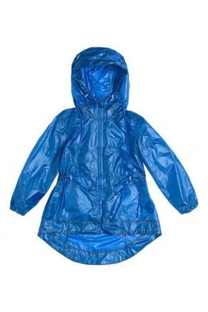 Синий дождевик с кулисками LU KIDS. Цвет: синий