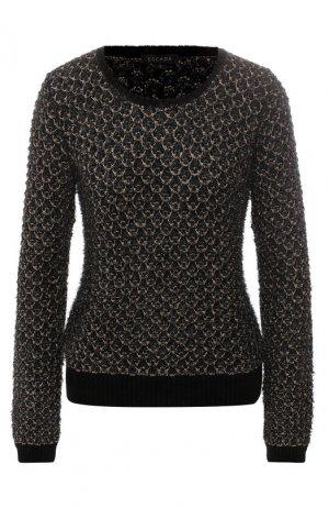 Пуловер фактурной вязки Escada. Цвет: черный