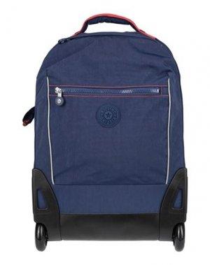 Чемодан/сумка на колесиках KIPLING. Цвет: синий