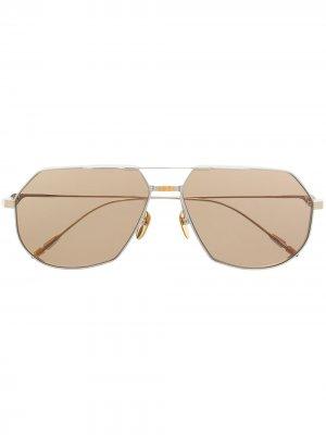 Солнцезащитные очки-авиаторы Reynold Jacques Marie Mage. Цвет: серебристый