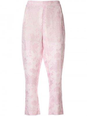 Укороченные брюки с цветочным принтом Ann Demeulemeester. Цвет: розовый