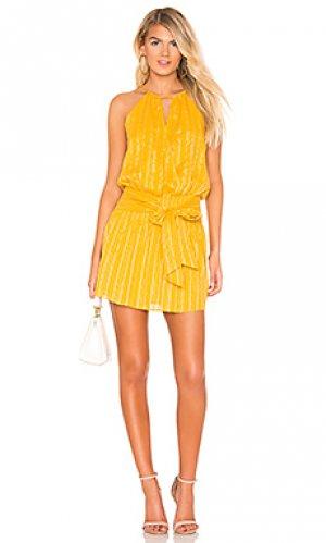 Мини платье larissa Parker. Цвет: желтый