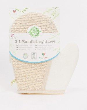 Перчатка-мочалка 2-1-Бесцветный So Eco