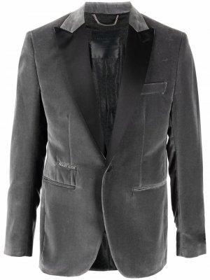 Бархатный пиджак Lord Fit Philipp Plein. Цвет: серый