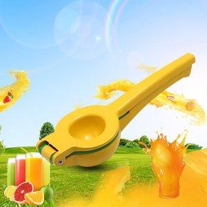 Ручная лимонная соковыжималка из алюминиевого сплава SHEIN. Цвет: жёлтые