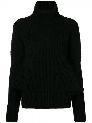 Ruffle sleeve sweater Antonio Berardi. Цвет: черный