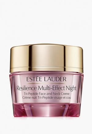 Крем для лица Estee Lauder Resilience Lift Night купить. Цвет: прозрачный