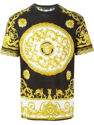 Футболки и жилеты Versace. Цвет: чёрный