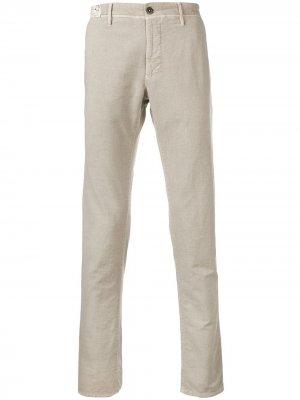 Классические брюки чинос Incotex. Цвет: нейтральные цвета