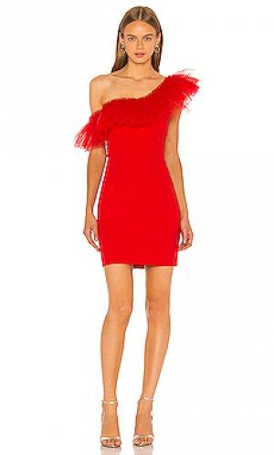 Мини платье BCBGMAXAZRIA. Цвет: красный