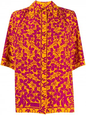 Рубашка 1990-х годов с принтом Christian Lacroix Pre-Owned. Цвет: оранжевый