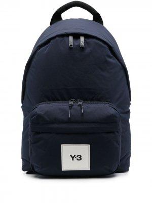 Рюкзак с нашивкой-логотипом Y-3. Цвет: синий