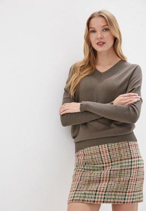 Пуловер MaryTes. Цвет: хаки