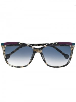 Солнцезащитные очки оверсайз Ch Carolina Herrera. Цвет: серый